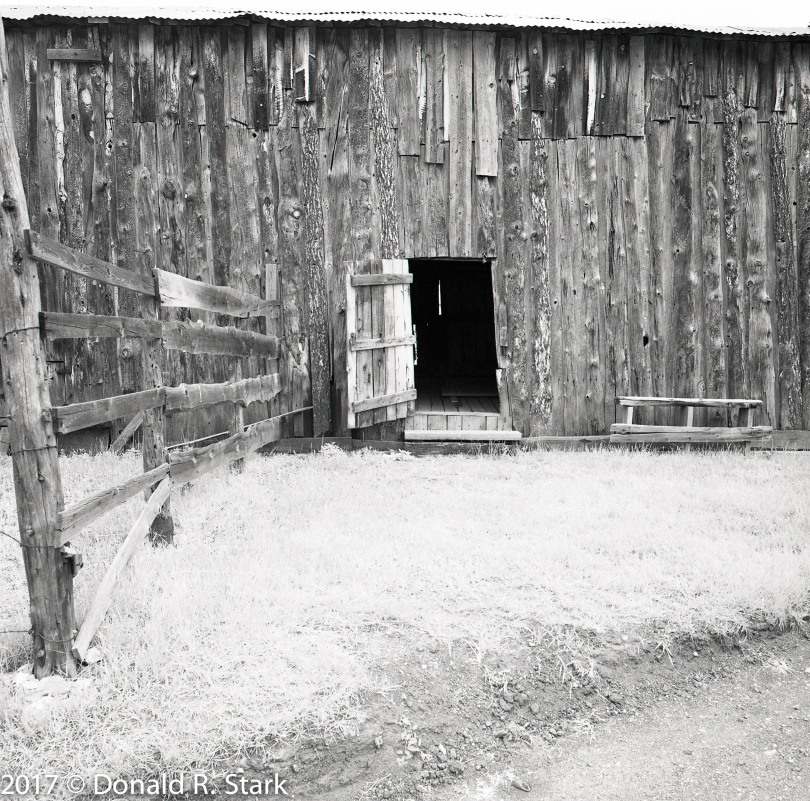 Barn and open door at Walker Ranch