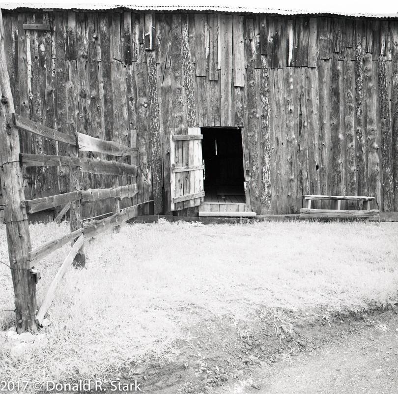 Barn and open door at Walker Ranch