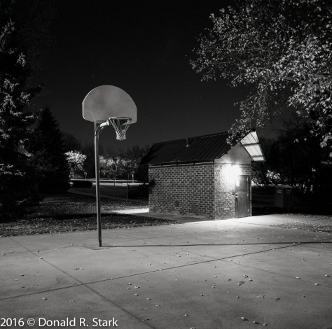 empty playground at night