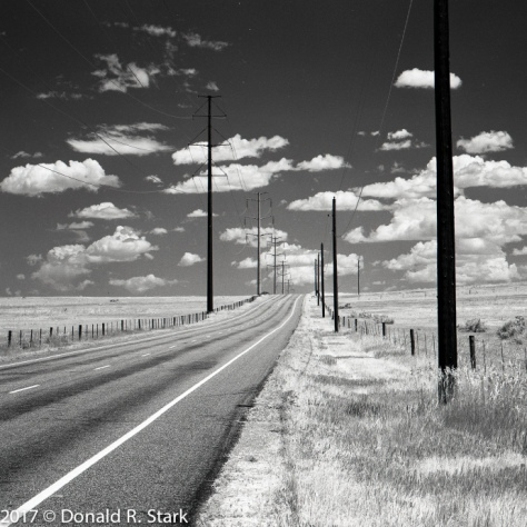 IR view of lookout road stretching off into infinity