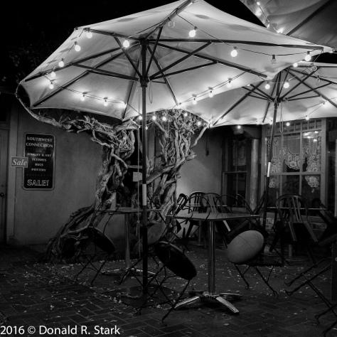 nighttime santa fe courtyard
